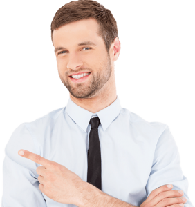 Man agreeing to the website care benefits by Hosting Photography